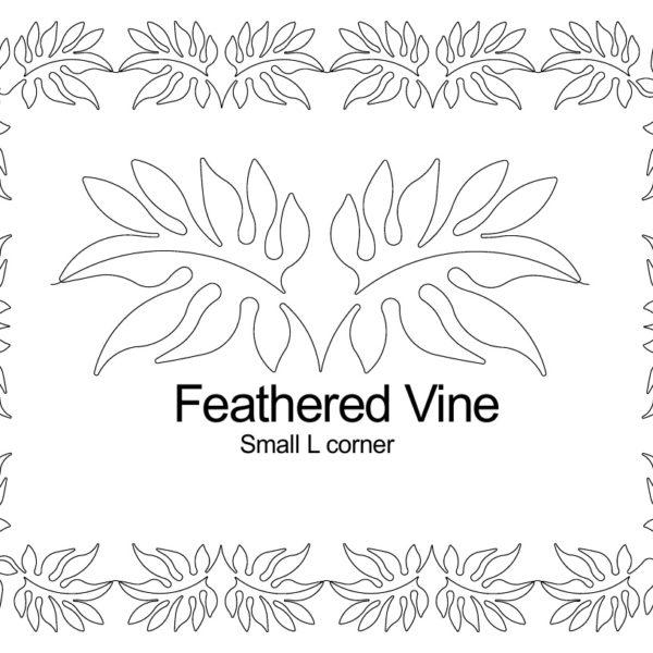 Feathered Vine small L corner border set.jpg