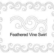 Feathered Vine Swirl border set.jpg