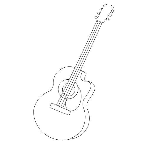 Guitar Acoustic 2 Anne Bright Designs